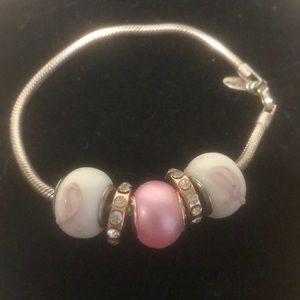 Jewelry - 925 silver  Pink bracelet